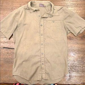 Khaki/Olive Men's Merrell Button-down Shirt - M